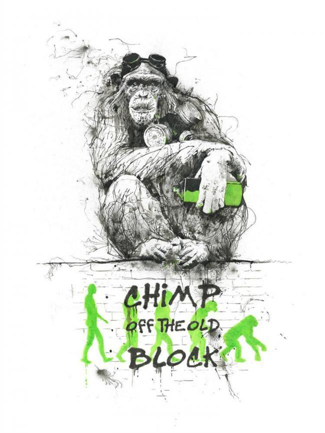 Chimp off the old block by Scott Tetlow