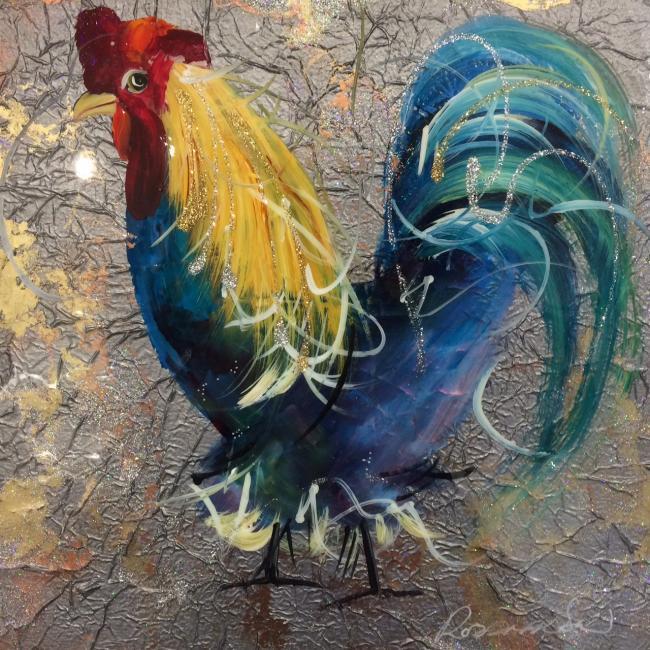 Cockerel II by Rozanne Bell