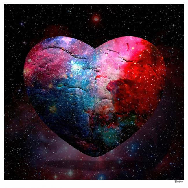 Cosmic Heart- Large by Monica Vincent
