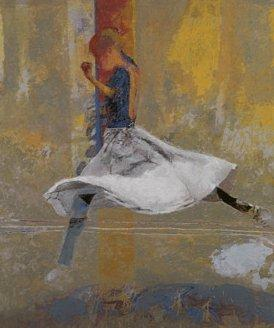 Dancer Leaping by Robert Heindel
