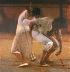 Dancers In White by Robert Heindel