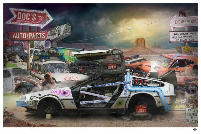 Doc's Auto Parts- Black Frame by JJ Adams