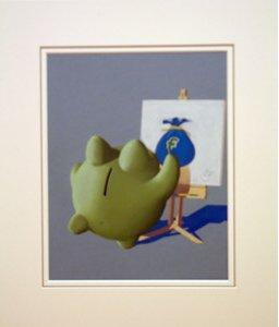 Drawing Cash - Original by A J Callan