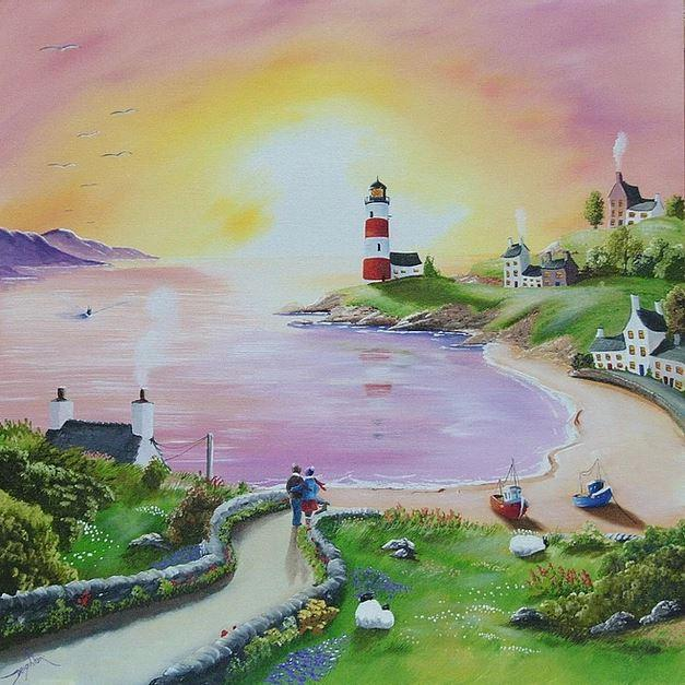 Evening By The Harbour by Caroline Deighton