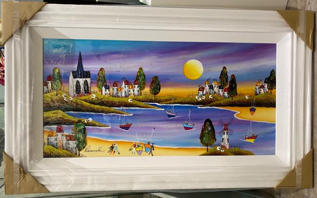 Evening on the Bay II(18x36) by Rozanne Bell
