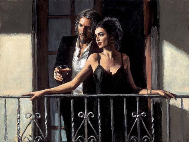 Fabian & Lucy At Balcony ii by Fabian Perez