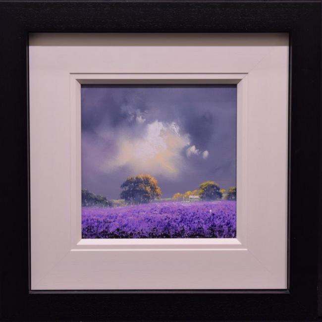 Fields of Heather ii (12x12) by Allan Morgan