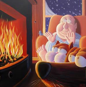 Fireside Friends by Derrick Fielding