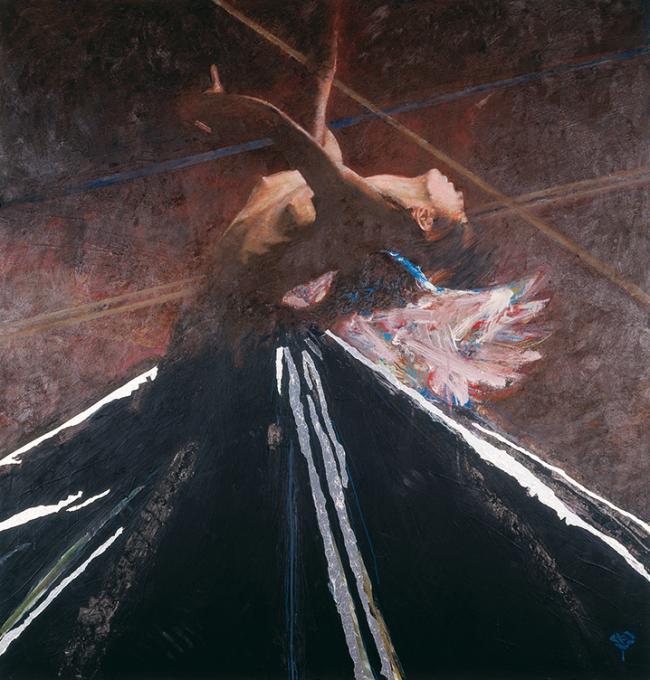 Floating Angel 10 by Robert Heindel