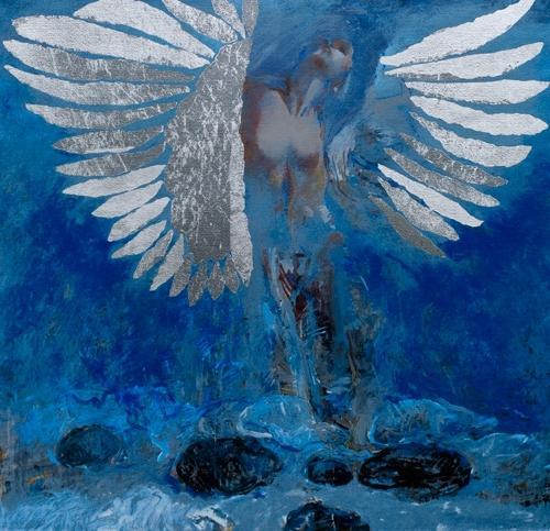 Floating Angel 11 by Robert Heindel