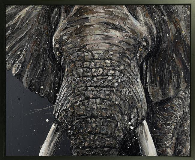 Gino- Hand Embellished Canvas by Paul Oz