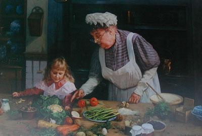 Granny's Kitchen by David Shepherd