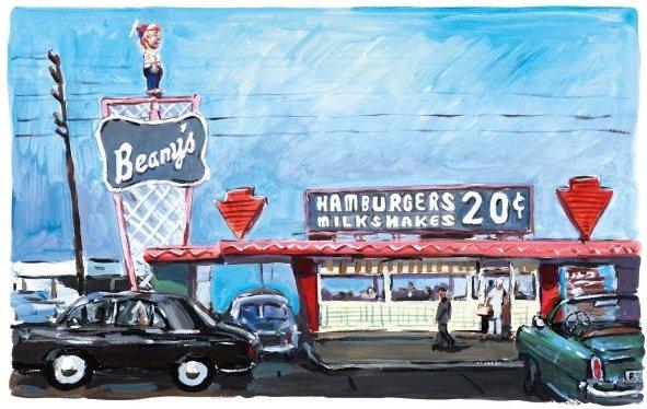 Hamburger Stand, Long Beach by Bob Dylan