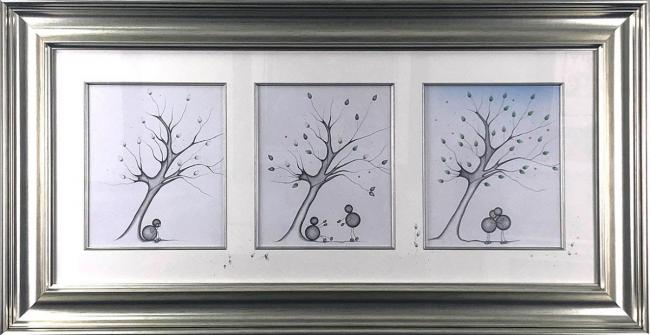 Here for you .... Always Triptych Sketch by Kealey Farmer