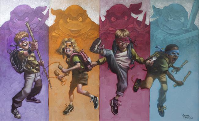Heroes In a Half Shell - Original by Craig Davison