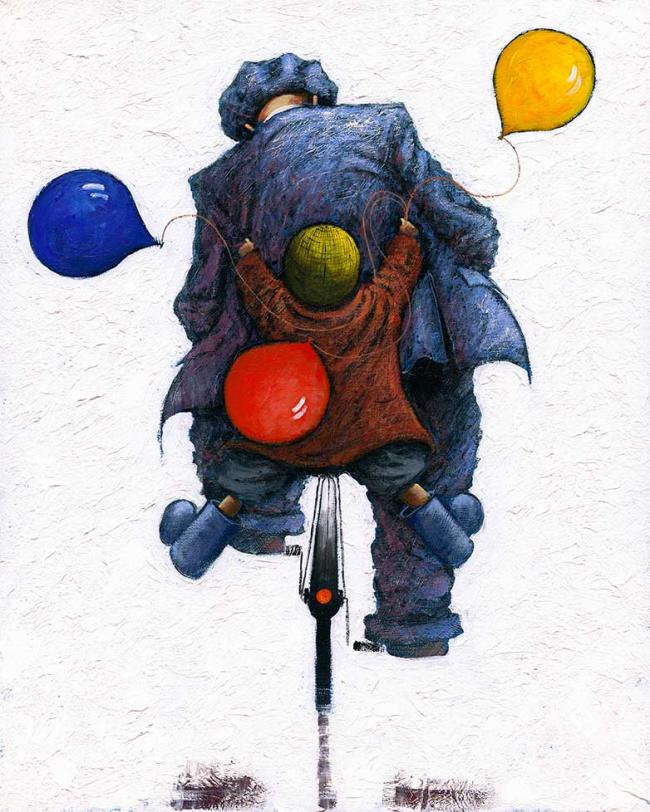 Hopes and Dreams Large Canvas by Alexander Millar