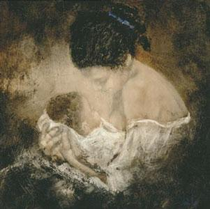 In Her Arms - On Canvas by Domenech