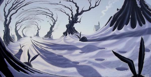 In The Lane Snow Is Glistening by Derrick Fielding