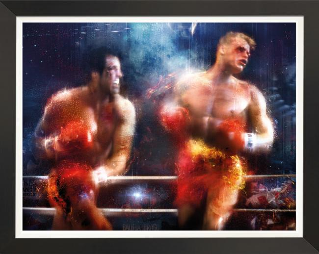Keep Moving Forward (Rocky) - Embellished Canvasby Mark Davies