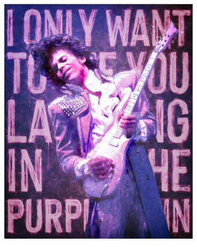 Laughing in the Purple Rain by Monica Vincent