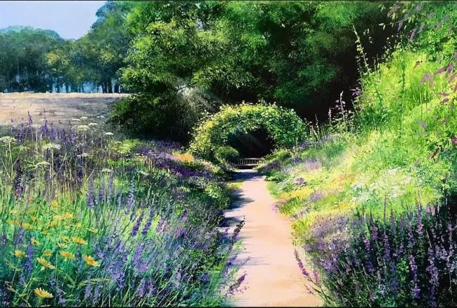 Lavender Walk by Heather Howe