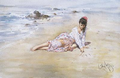 Letters In The Sand by Gordon King