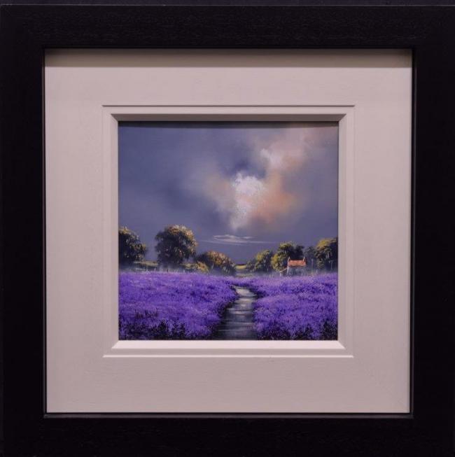 Lilac Pathway (12x12) by Allan Morgan