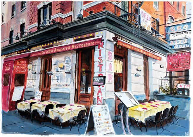 Little Italy Lower Manhattan by Bob Dylan