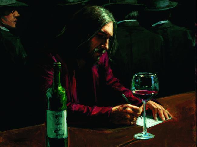 Man at Bar VIII by Fabian Perez