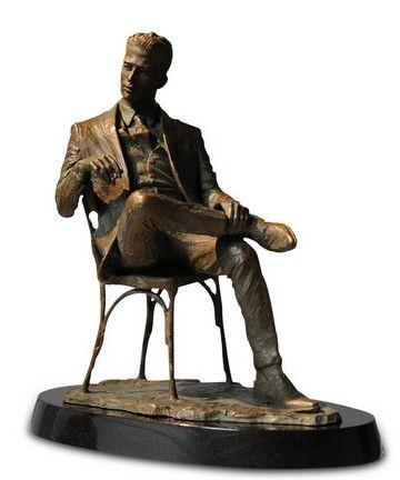Man Sitting in Chair - Bronze by Fabian Perez