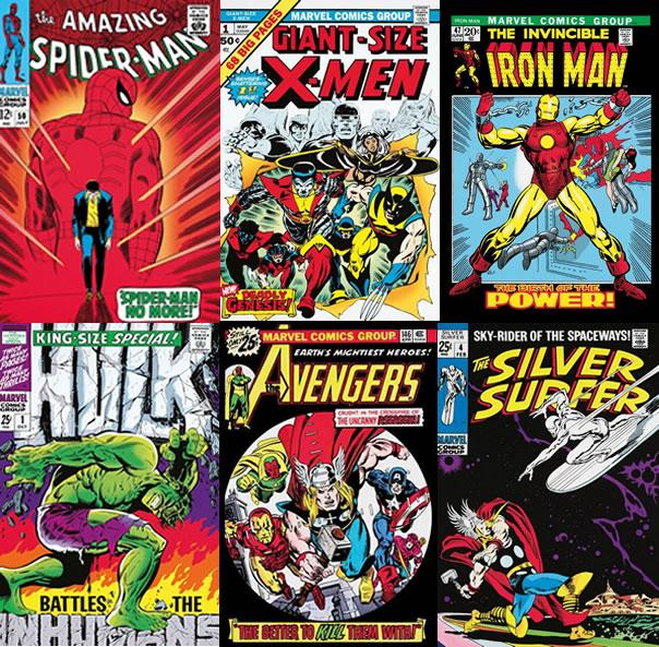 Marvel Superheroes - Set Of 6 - Canvas by Stan Lee  Marvel Comics