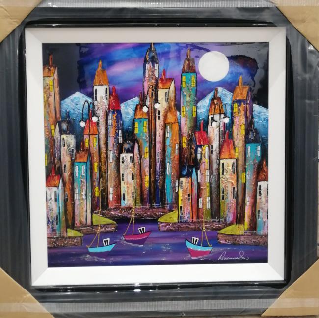 Moonlit Glow (24x24) by Rozanne Bell