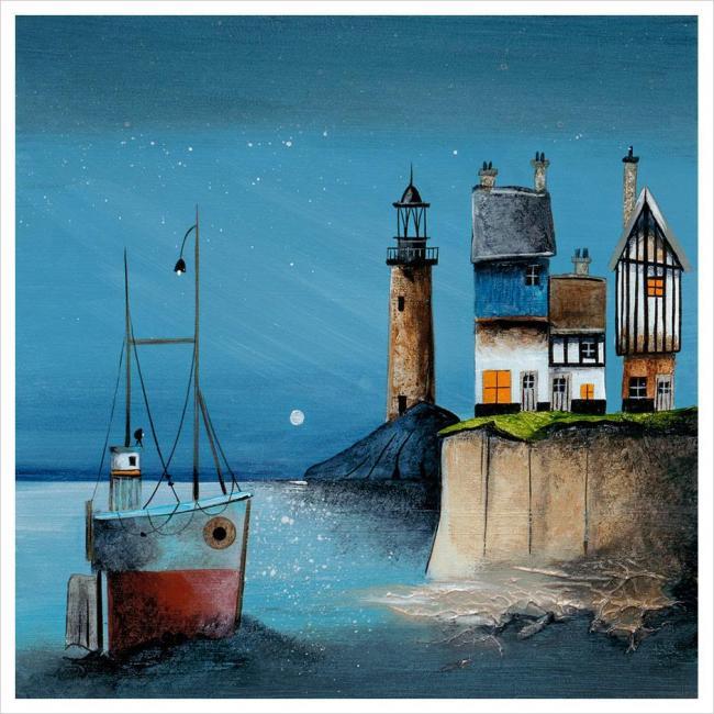Moonlit Harbour by Gary Walton