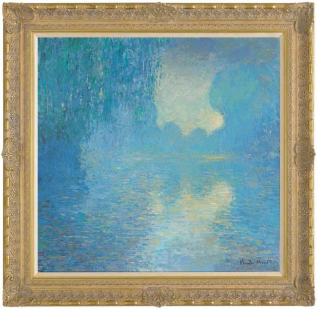 Morning on the Seine, Pale Blue Effect (in the style of Claude Monet) – 2012 by John Myatt