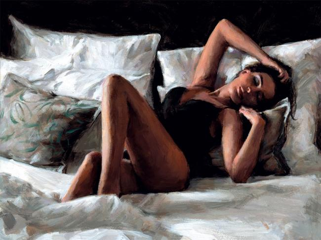 Olga at Home by Fabian Perez