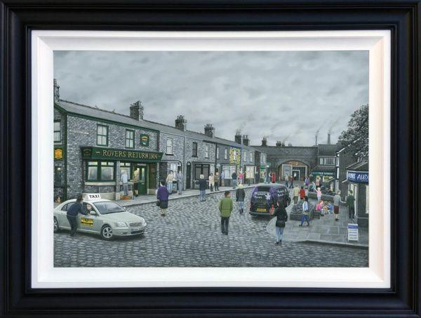 On The Cobbles- Deluxe Canvas by Leigh Lambert