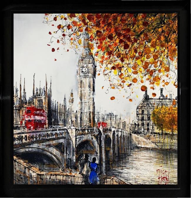 Onto The Bridge by Nigel Cooke