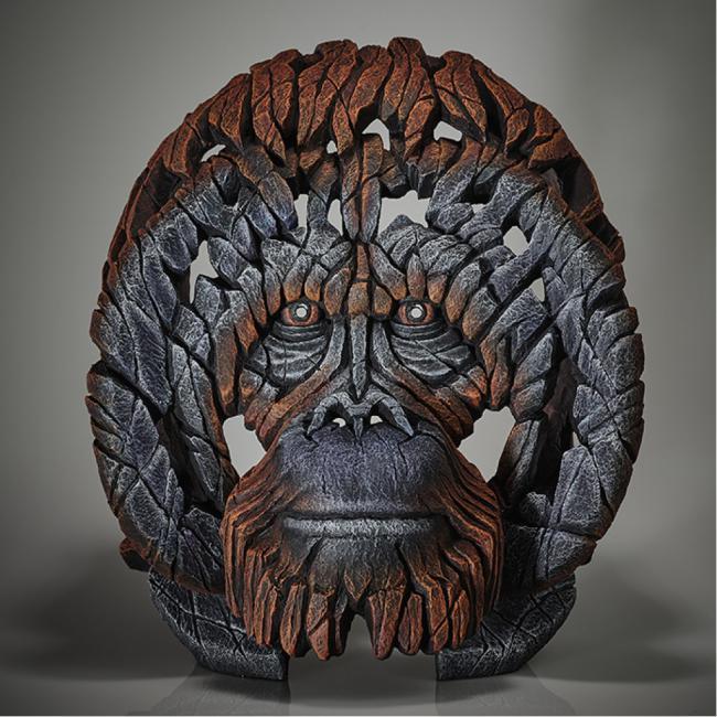 Orangutan Bust by Edge Sculptures by Matt Buckley