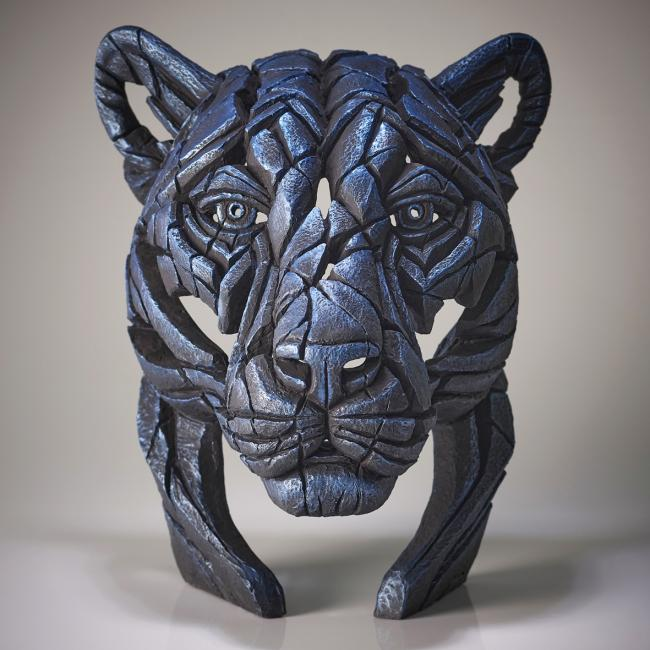 Panther Bust- Night Shadow by Edge Sculptures by Matt Buckley