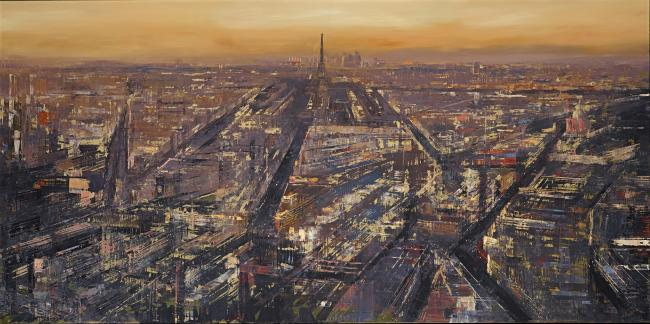 Parisian Metropolis (with Gold Foil) by Paul Kenton