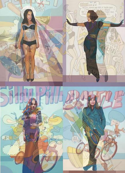 Personal Study - Revealed Portfolio (Set Of 4 Boxed Canvas) by Stuart McAlpine Miller