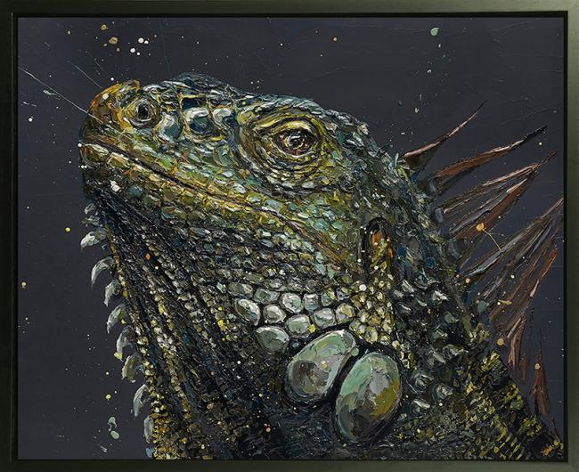 Pop- Hand Embellished Canvas by Paul Oz