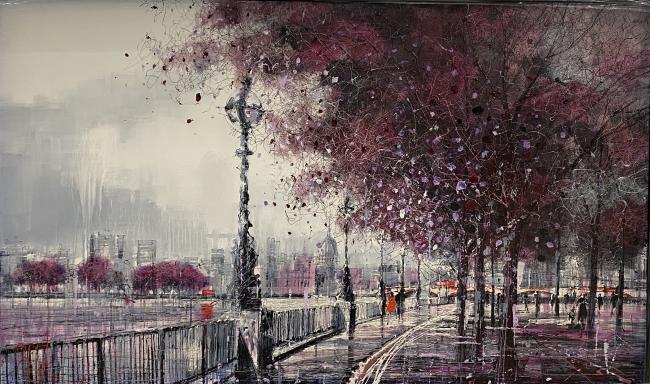 Queens Walk by Nigel Cooke