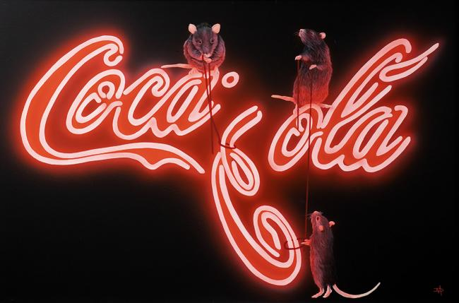 Rats Fixing Coca Cola by Dean Martin