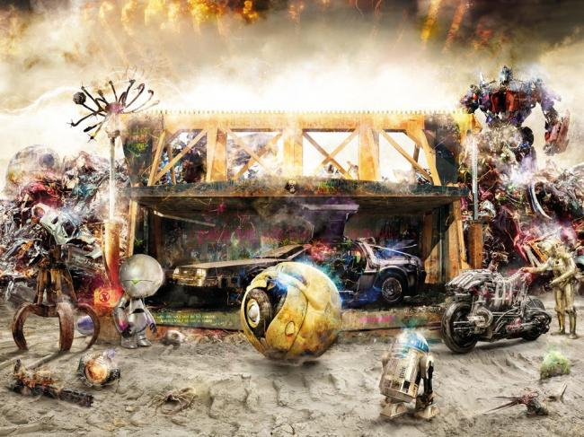 Rise Of The Machines 2 - Large by Mark Davies