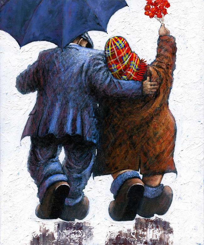 Say it with Flowers Large Canvas by Alexander Millar