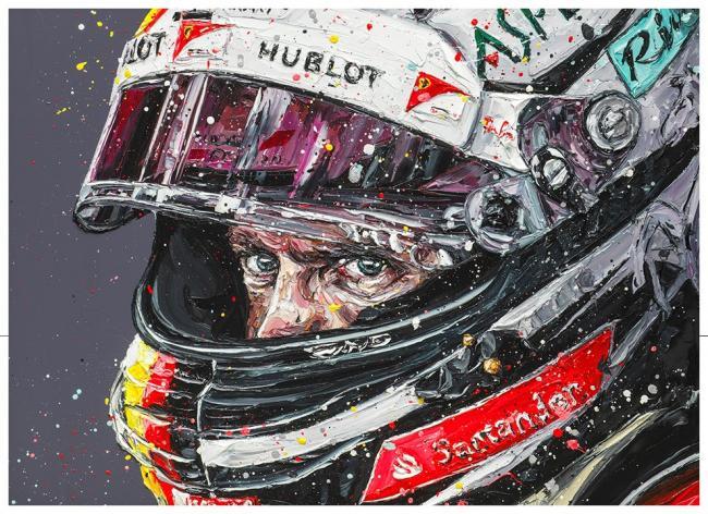 Seb Focused- Canvas by Paul Oz