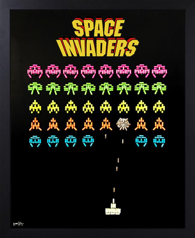 Space Invaders i by Emma Gibbons