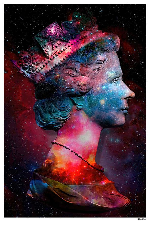 Space Queen - Large by Monica Vincent