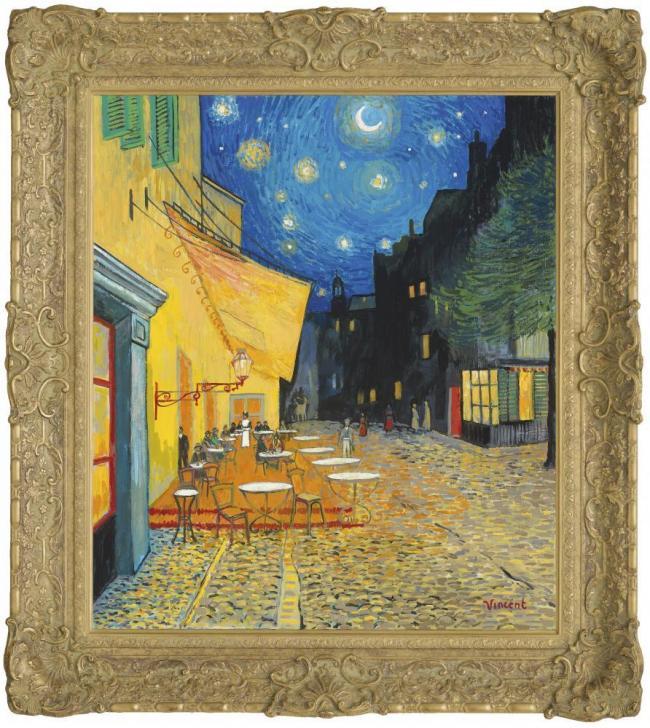 Starry Night With Cafe Terrace, Place Du Forum by John Myatt